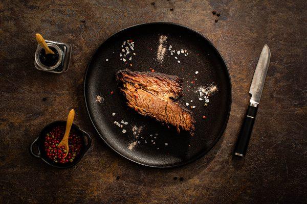 Petto di vitello affumicato a bassa temperatura ristorante affumico bologna